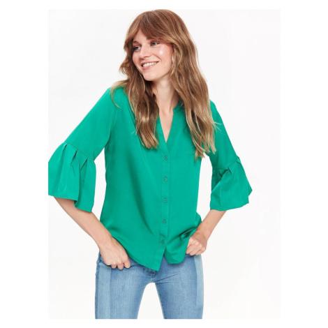 Top Secret Košile dámská jednobarevná s 3/4 volánkovým rukávem