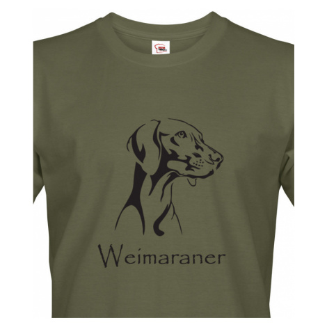 Tričko pro myslivce Výmarský ohař - ideální narozeninový dárek BezvaTriko
