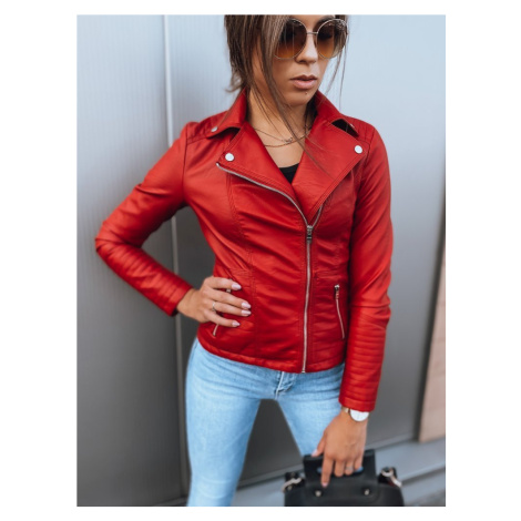Dámská kožená bunda VENTURA červená Dstreet