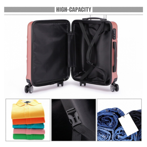 Růžový cestovní kvalitní set kufrů 3v1 Perfei Lulu Bags