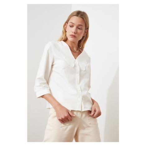 Trendyol Ekru Collar Detail Shirt