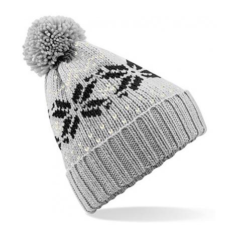 Zimní čepice Snowstar - šedočerná Beechfield