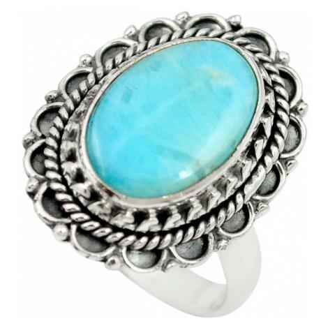 AutorskeSperky.com - Stříbrný prsten s larimarem - S2770