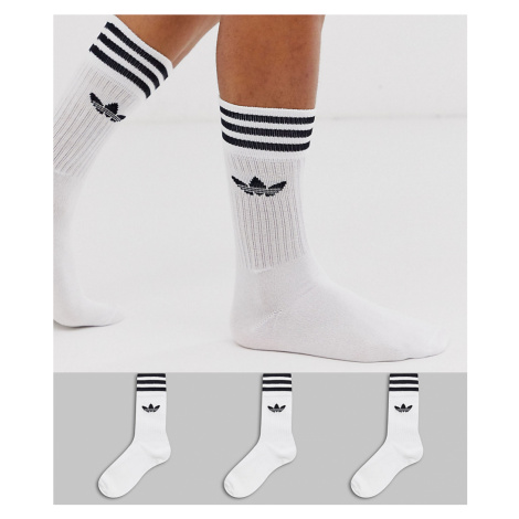 Adidas Originals 3 pack white socks