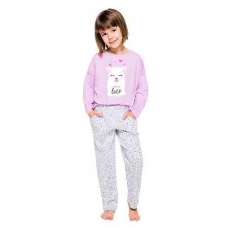 Dívčí pyžamo Sofie fialové s potiskem lamy Taro