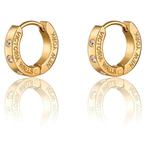 Victoria Walls Pozlacené kruhové náušnice s krystaly VE1112G