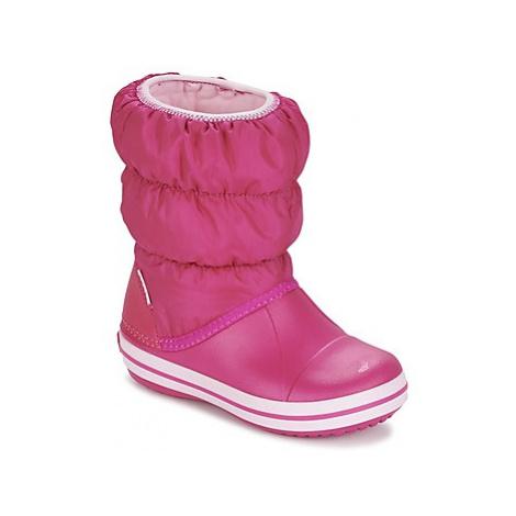 Crocs WINTER PUFF BOOT KIDS Růžová