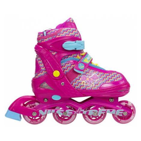 Dětské kolečkové brusle NILS Extreme NJ 4613 růžové