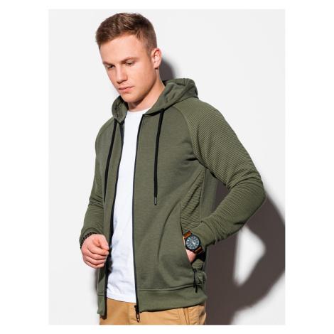 Ombre Clothing Men's zip-up sweatshirt B1083