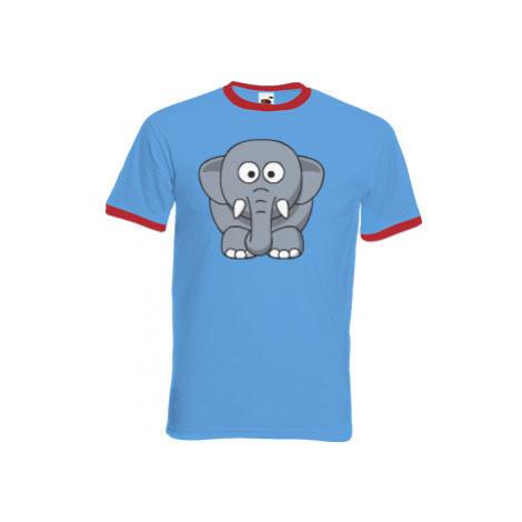 Pánské tričko s kontrastními lemy Sloník