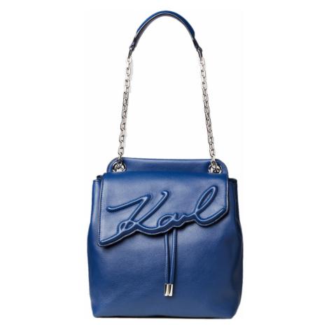 Modrý kožený batoh - KARL LAGERFELD