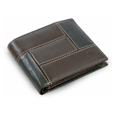 Černo hnědá pánská kožená peněženka Trevor Arwel