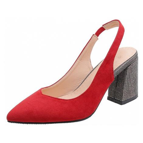 Originální lodičky společenské letní boty s páskem za patu