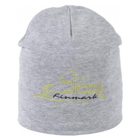 Finmark DĚTSKÁ ČEPICE šedá - Zimní čepice