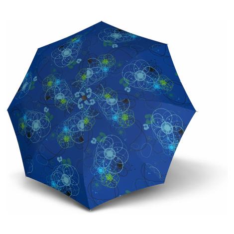 Modrý barevný dámský skládací mechanický deštník Kroune Doppler