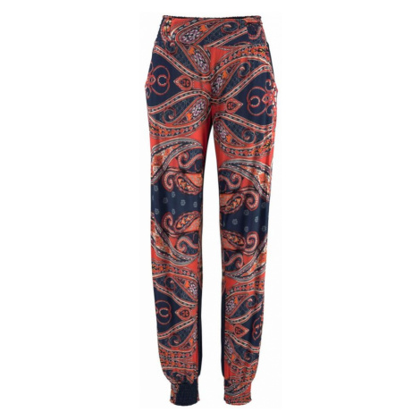 LASCANA Kalhoty oranžová / marine modrá