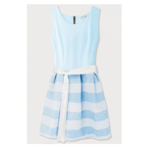 Světle modré rozšířené šaty (3054/3) modrá Made in Italy