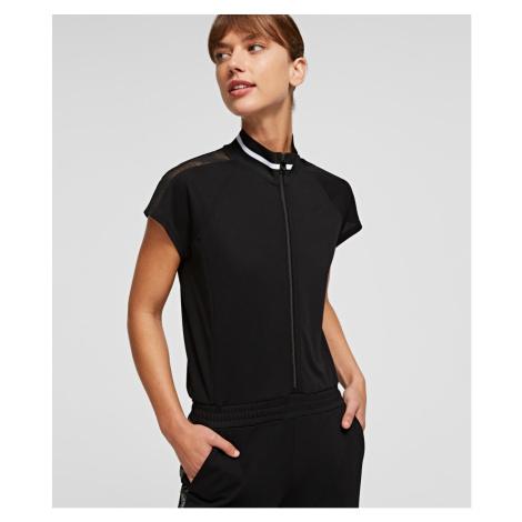 Overal Karl Lagerfeld S/Slv Crepe Jersey Jumpsuit - Černá