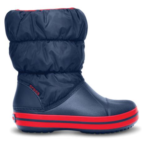 Crocs Winter Puff Boot Kids Navy/Red C9
