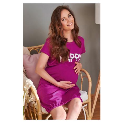Mateřská kojicí košilka Happy mommy růžová Doctor Nap