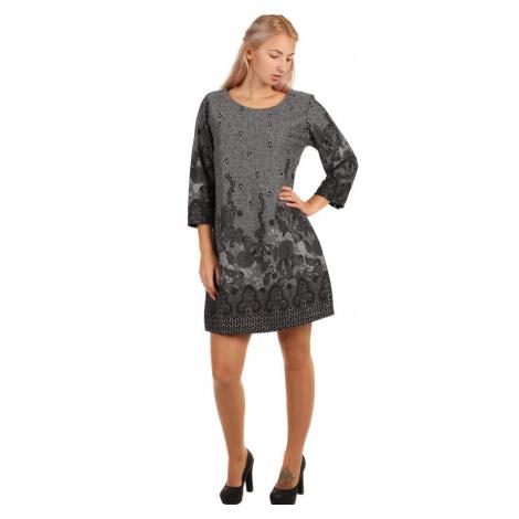 Dámské áčkové společenské šaty krátká délka