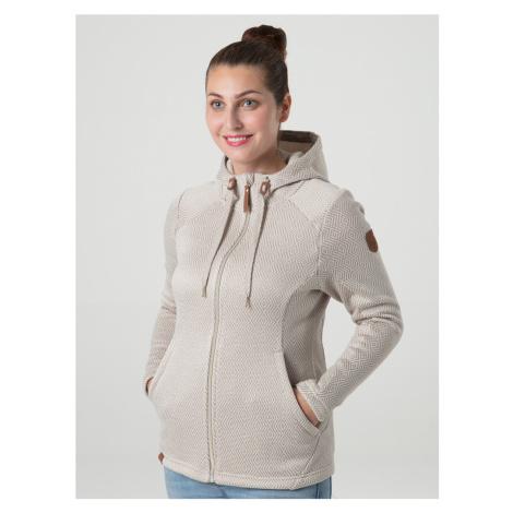 Loap Gamali dámský sportovní svetr hnědý žíhaný