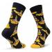 Klasické ponožky Unisex HAPPY SOCKS - BEA01-6000 Tmavomodrá Žlutá
