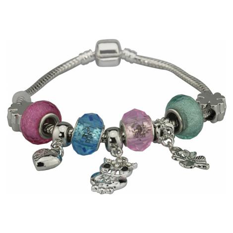 Linda's Jewelry Náramek s přívěsky Pink and Blue Owl INR052