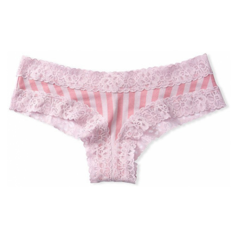 Victorias Secret pohodlné pruhované brazilské kalhotky Lace-waist Cheeky Panty Victoria's Secret