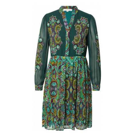 Derhy Košilové šaty 'TADORNE' tmavě zelená / mix barev