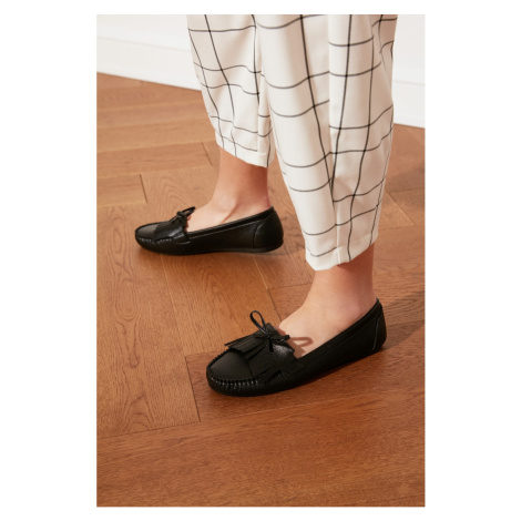 Trendyol Black Fringed Women's Loafer Shoes