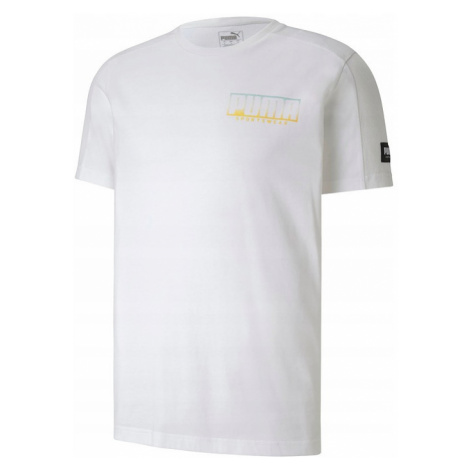 Pánské tričko Puma 581336 Athletics Advanced Tee white-gold