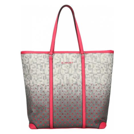 Dámská kabelka Sisley Brenda - šedo-růžová