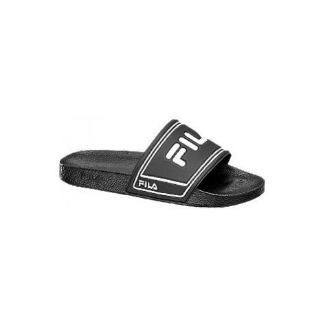 Černé pantofle Fila