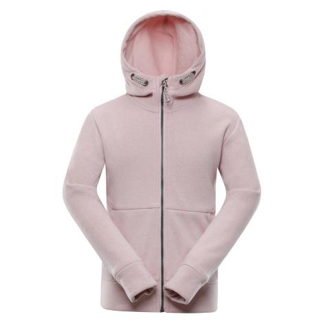 Dětská mikina Alpine Pro NAMASO - světle růžová