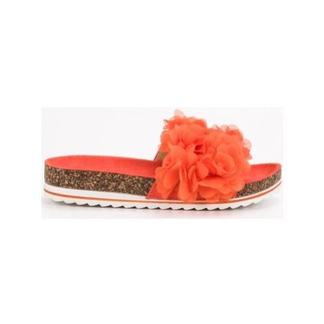 Seastar Originální oranžové nazouváky dámské bez podpatku ruznobarevne
