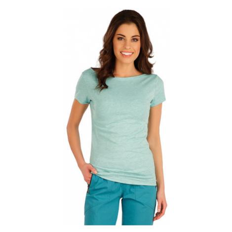 Dámské tričko s krátkým rukávem Litex 5A106 | mentolové melé