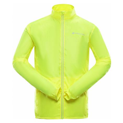 ALPINE PRO BERYL 4 Pánská bunda MJCR392530 reflexní žlutá