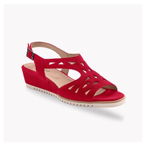 Blancheporte Ažurové sandály, kůže, červené červená