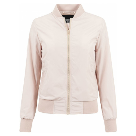 Urban Classics Ladies Light Bomber Jacket dívcí bunda starorůžová