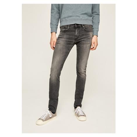 Pepe Jeans Pepe Jeans pánské tmavě šedé džíny FINSBURY