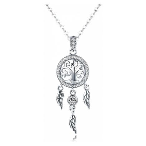 OLIVIE LAPAČ SNŮ stříbrný náhrdelník 3435