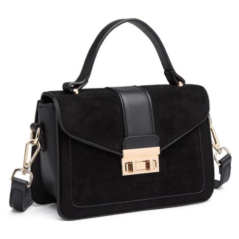 Černá stylová menší dámská kabelka Geraldine Lulu Bags