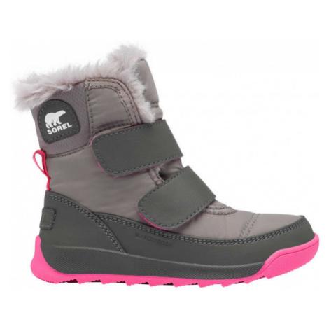 Sorel CHILDRENS WHITNEY II STR šedá - Dětská unisex zimní obuv