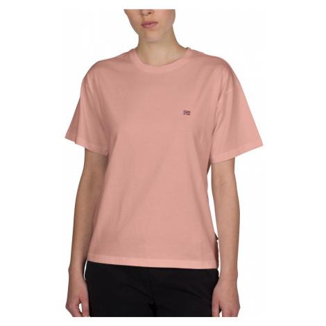 Napapijri NAPAPIJRI dámské růžové tričko SALIS