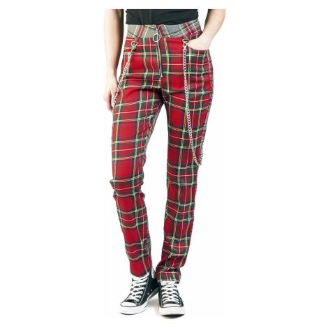 Jawbreaker Rovné kalhoty Off The Chain Dámské kalhoty červená