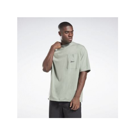 Reebok Sport Vector Pocket T-Shirt Zelená