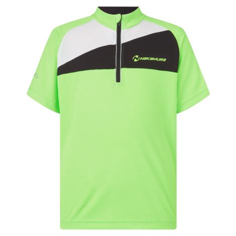 NAKAMURA - Pablo cyklistické tričko - Unisex - Trička s krátkým rukávem - zelená 152 cm