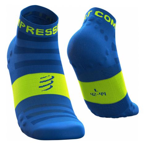 Ponožky Compressport PRO RACING SOCKS V3.0 ULTRALIGHT RUN LOW modrá|Żółty