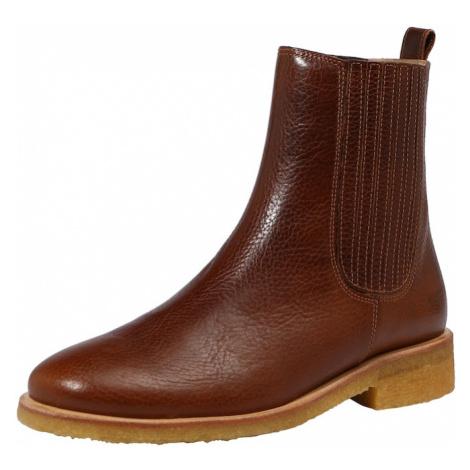 ANGULUS Chelsea boty karamelová